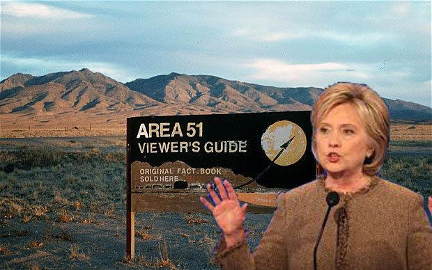 UFO Area 51: Hillary Clinton interesse a rendere pubblici i file sugli UFO