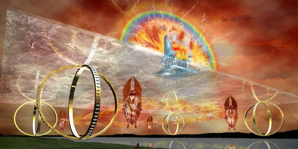 visione di ezechiele e il carro di fuoco