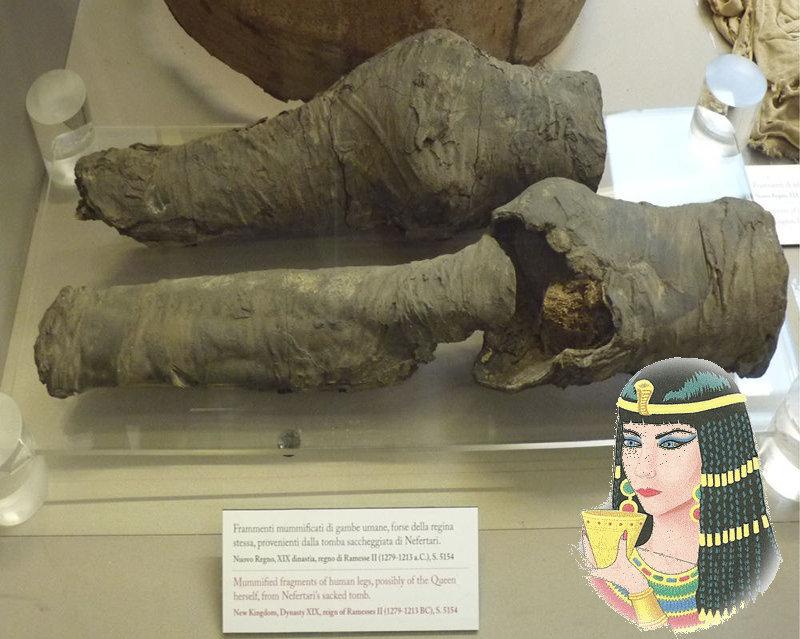 Nefertari: le gambe mummificate appartengono alla Regina Egiziana