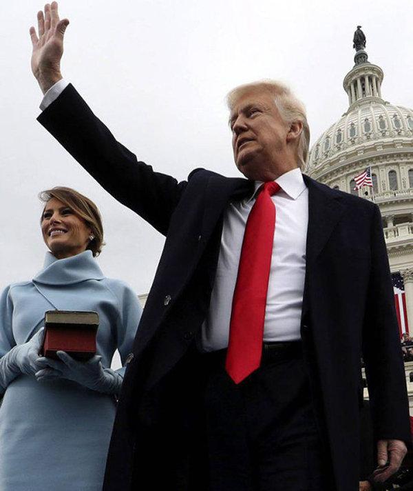 Donald Trump e la moglie Melania all'inaugurazione a Washington