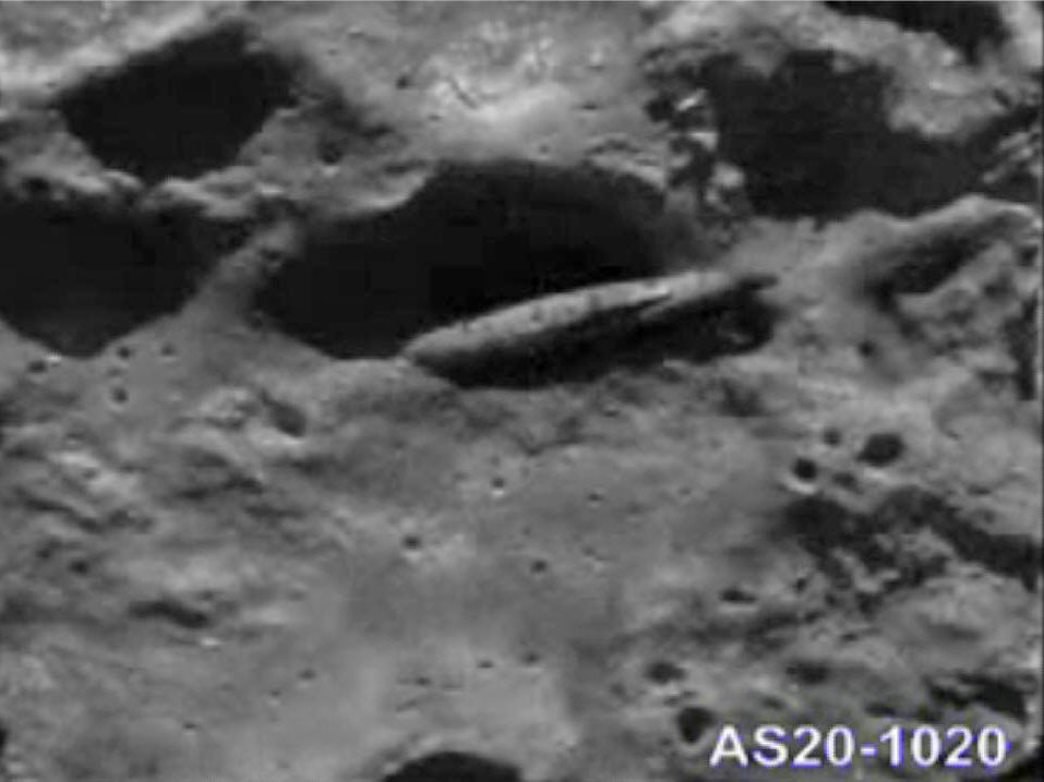 Struttura fotografata dall'Apollo 20 sulla luna
