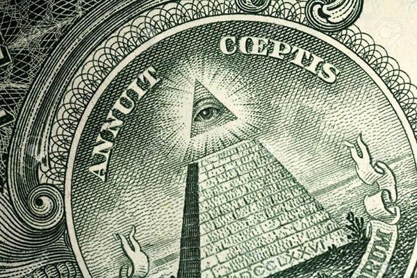 piramide e l'occhio sul dollaro