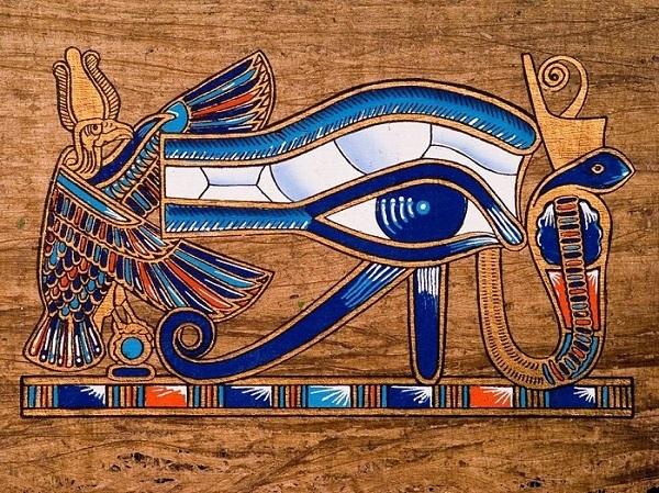 Rappresentazione dell' Occhio di Horus su papiro