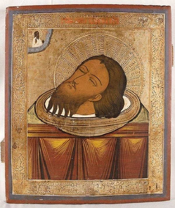 Illustrazione del capo di San Giovanni Battista
