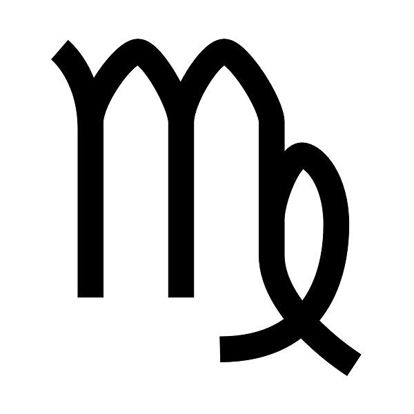 Simbolo antico per la costellazione Virgo