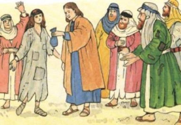 anania e saffira con gli apostoli