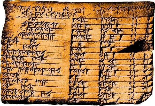 tavoletta babilonese della trigonometria