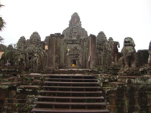 Bayon, Angkor Thom, Cambogia.