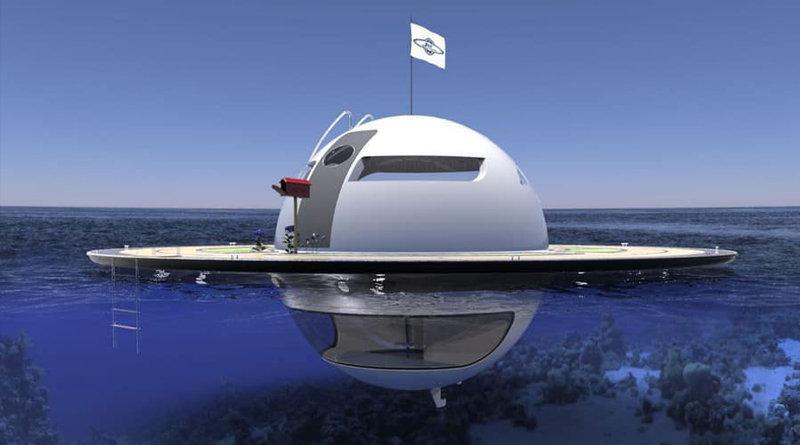 La futuristica UFO Home ti permette di vivere lontano sull'oceano