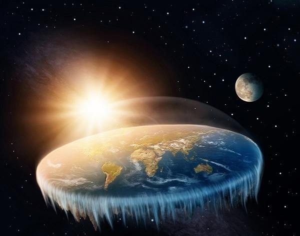 illustrazione della terra piatta