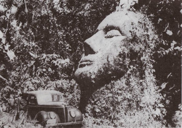 massiccia testa di pietra del Guatemala