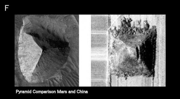 piramide a tre facce su Marte e