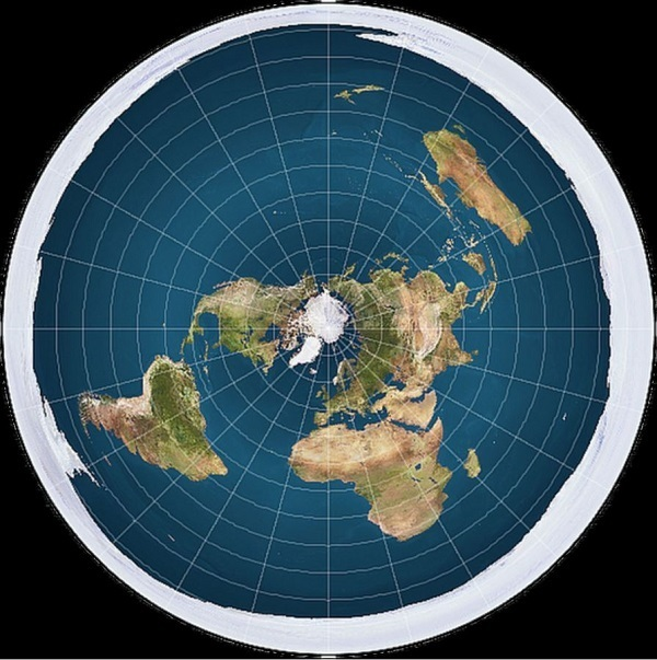 una immagine della terra piatta
