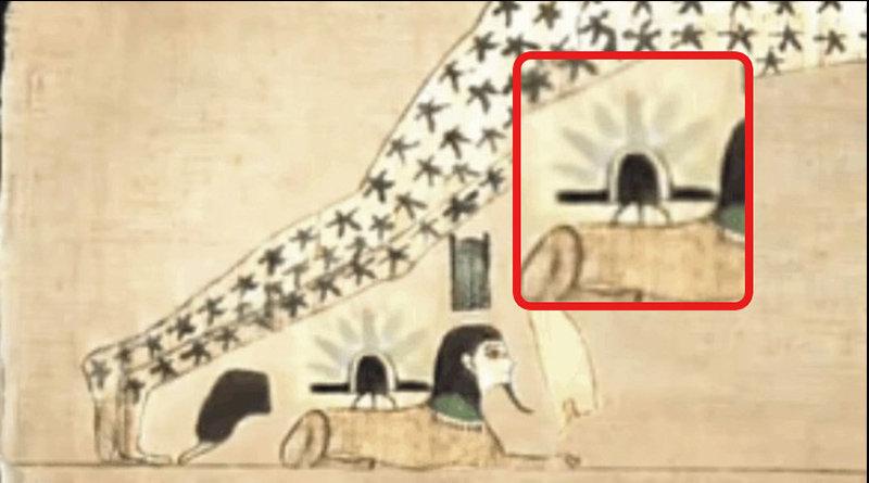 """Manoscritto egiziano mostra un atterraggio UFO sulla """"Sfinge""""?"""