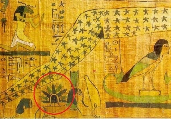 atterraggio UFO sulla Sfinge