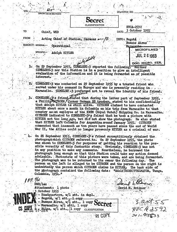 documenti cia-Hitler top secret