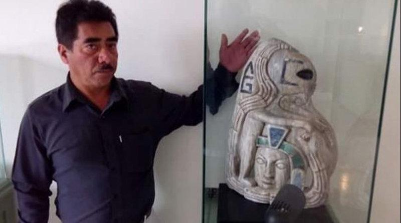 "Messico: spunta una statua Maya raffigurante un umanoide ""alieno"""