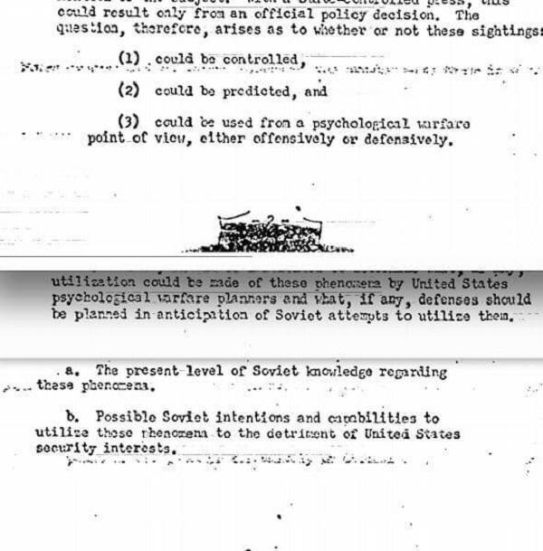 CIA-Memo presunta invasione aliena