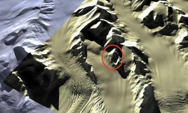Google Earth volto alieno in Antartide