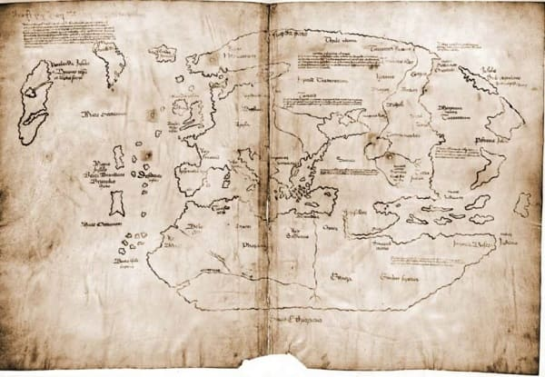 La mappa di Vinland America