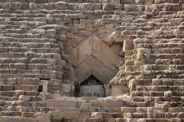 Ingresso originale (bloccato) alla Grande Piramide