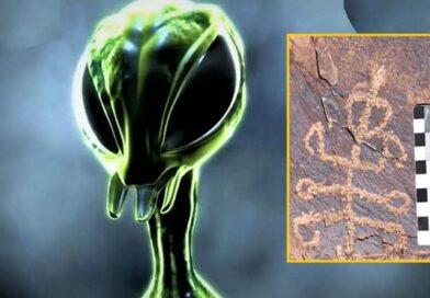 """Scoperto petroglifo che rappresenta un essere """"metà uomo e metà mantide"""""""